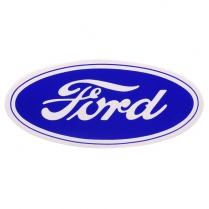 "Sticker - Ford Script - 17"" - Blue on White Background - 1966-77 Ford Bronco"