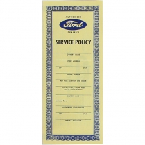 "Pamphlet - ""Ford Service Policy"" - 1949-55 Ford Car"