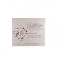 Decal - Ignition Lock Instruction Sleeve - 1970 Ford Car