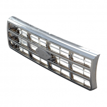 Grille | Chrome - Aftermarket - 1987-91 Ford Truck, 1987-91 Ford Bronco