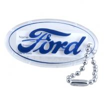 Blue Ford Script Key Chain - Plastic