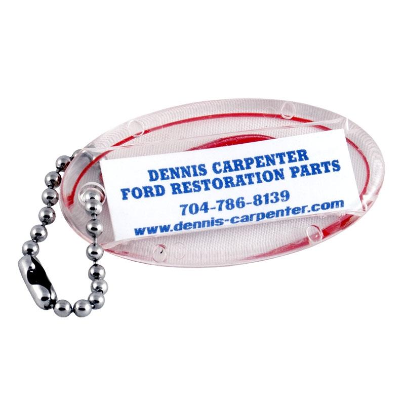 Red Ford Script Key Chain - Plastic