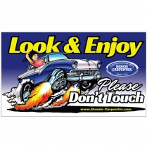 Magnet - Look and Enjoy - Please Don't Touch - with Car - All