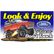 Magnet - Look and Enjoy - Please Don't Touch - with Bronco - All