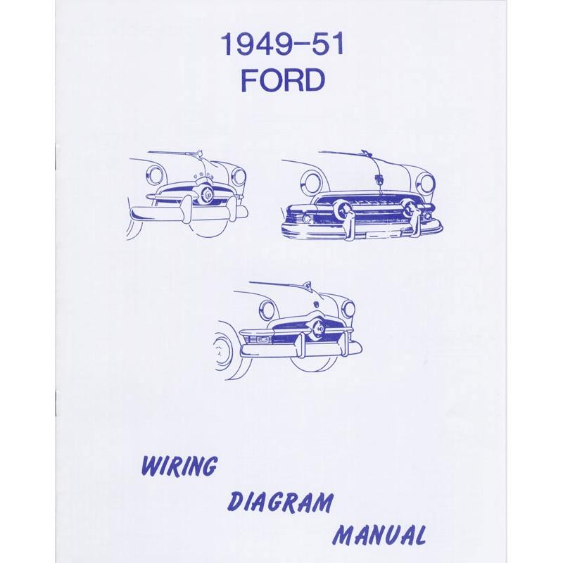 Book - Wiring Diagram Manual - 1949-51 Ford Car - Product ...