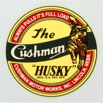 Husky Decal - Adhesive Sticker - 1946-49 Cushman Scooter