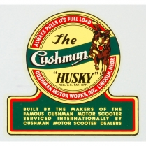 Husky Decal - Adhesive Sticker - 1950-65 Cushman Scooter