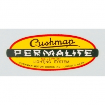 Permalite Decal - Adhesive Sticker - 1950-65 Cushman Scooter