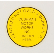 5 HP Decal - Adhesive Sticker - 1955-65 Cushman Scooter