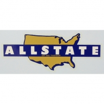 Allstate Decal - Adhesive Sticker - 1950-62 Cushman Scooter
