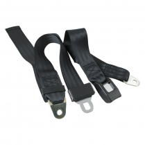 Seat Belt - 2 point Lap - Black - 1966-77 Ford Bronco