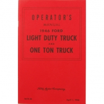 Operator's Manual - 1946 Ford Truck