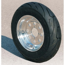 Aluminum Wheel w/  Tire 10 inch round Hole Cut - 1950-65 Cushman Scooter