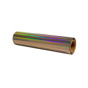 "12""x1000'x3"" core 1.0 mil Rainbow Holographic Sleeking Foil"
