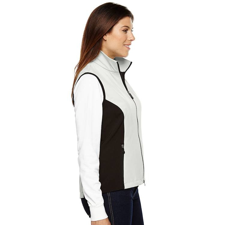 North End Ladies 3-Layer Light Bonded Soft Shell Vest