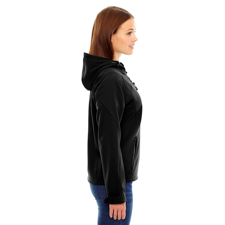 Ash City North End Ladies' Hooded Prospect Two-Layer Fleece Bonded Soft Shell Hooded Jacket