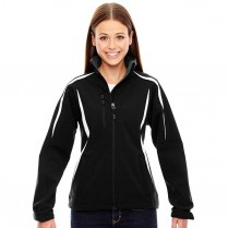 CLEARANCE North End Ladies' Enzo Colorblocked Three-Layer Fleece Bonded Soft Shell Jacket