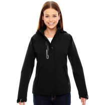 CLEARANCE North End Ladies' Axis Soft Shell Jacket with Print Graphic Accents