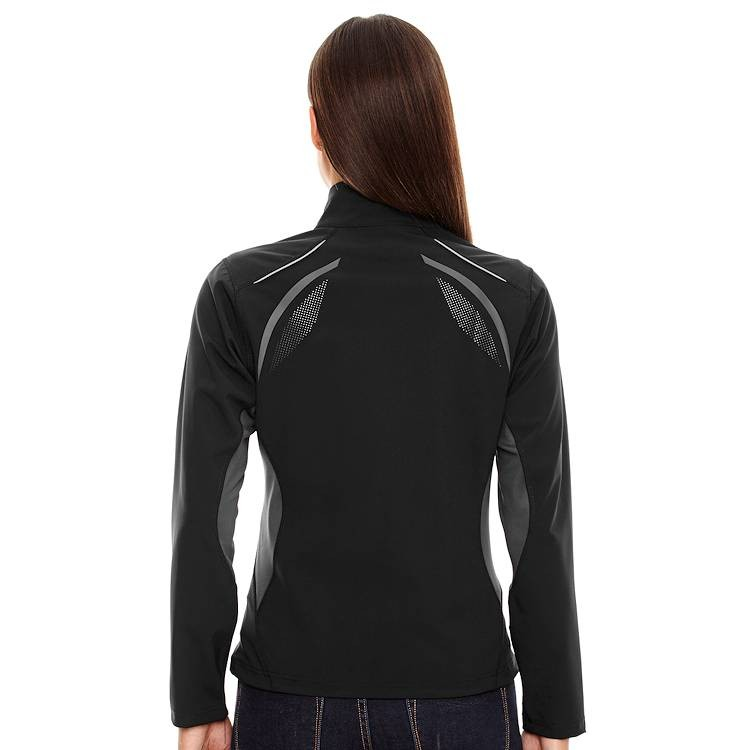 Ash City North End Sport Red Ladies' Pursuit Three-Layer Light Bonded Hybrid Soft Shell Jacket with Laser Perforation