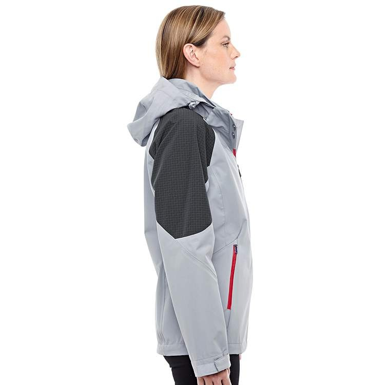 Ash City North End Sport Red Ladies' Hooded Impulse Interactive Seam-Sealed Shell Jacket
