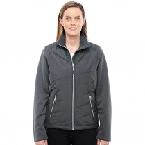 Ash City North End Sport Red Ladies' Quantum Interactive Hybrid Insulated Jacket