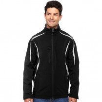 CLEARANCE North End Men's Enzo Colorblocked Three-Layer Fleece Bonded Soft Shell Jacket