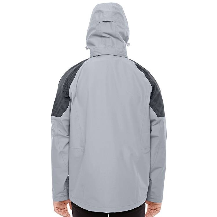 Ash City North End Sport Red Men's Hooded Impulse Interactive Seam-Sealed Shell Jacket