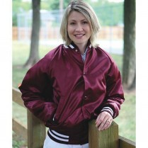 ASW Adult Flannel Lined Satin Award Jacket