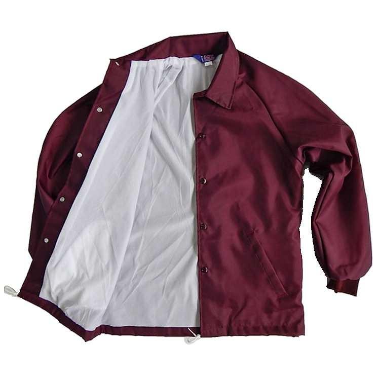 ASW Adult Oxford Flannel Lined Windbreaker Jacket