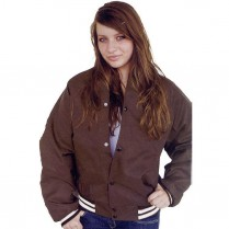 ASW Adult Oxford Flannel Lined Baseball Jacket