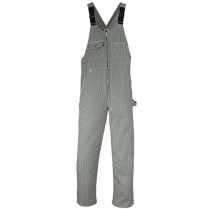Big Bill Hickory Stripe Bib Overall With Zip Front Closure