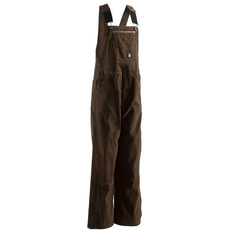 Berne Unlined Washed Zip To Knee Duck Bib Overall