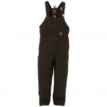 Berne Toddler Washed Insulated Bib Overall Quilt Lined