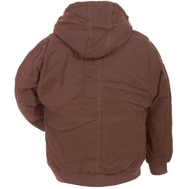 Berne Youth Washed Hooded Jacket Quilt Lined