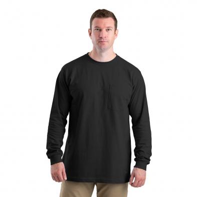 Berne Mens Royal Blue 100/% Cotton Heavyweight Pocket Tee S//S