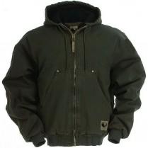Berne Original Washed Hooded Jacket-Quilt Lined
