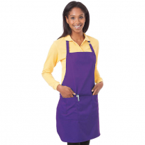 Blue Generation Teflon Treated Twill Bib Apron 6 per Pack