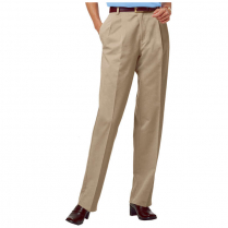 Blue Generation Ladies' Teflon Twill Pleated Front Pant