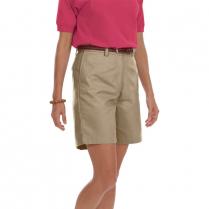 Blue Generation Ladies' Teflon Twill Flat Front Short