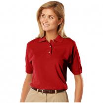Blue Generation Ladies' 100% Cotton Pique Short Sleeve Polo