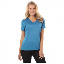 Blue Generation Ladies' Performance Heathered V-Neck  T-Shirt