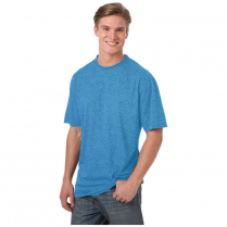 Blue Generation Men's Performance Heathered Crew Neck  T-Shirt