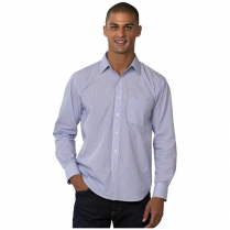 Blue Generation Men's Long Sleeve Stripe Untucked Shirt