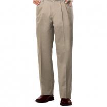 Blue Generation Men's Teflon Twill Pleated Front Pant