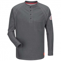 Bulwark IQ Series Long Sleeve Comfort Knit Henley with Insect Shield HRC2 CAT 2