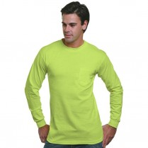 Bayside Union Made Long Sleeve T-Shirt with Pocket