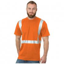 Bayside Hi-Vis 100% Cotton Crew Tee Solid Striping