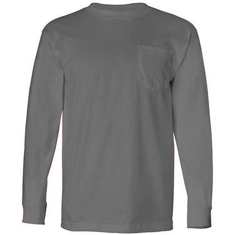 Bayside 6.1 oz. Long Sleeve T-Shirt with Pocket