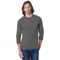 Bayside 6.1 oz. Long Sleeve T-Shirt with Pocket