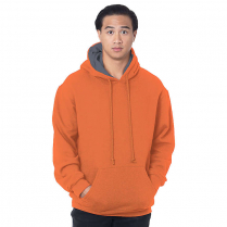 Bayside Super Heavy 17 oz. Thermal Lined Hooded Pullover Fleece